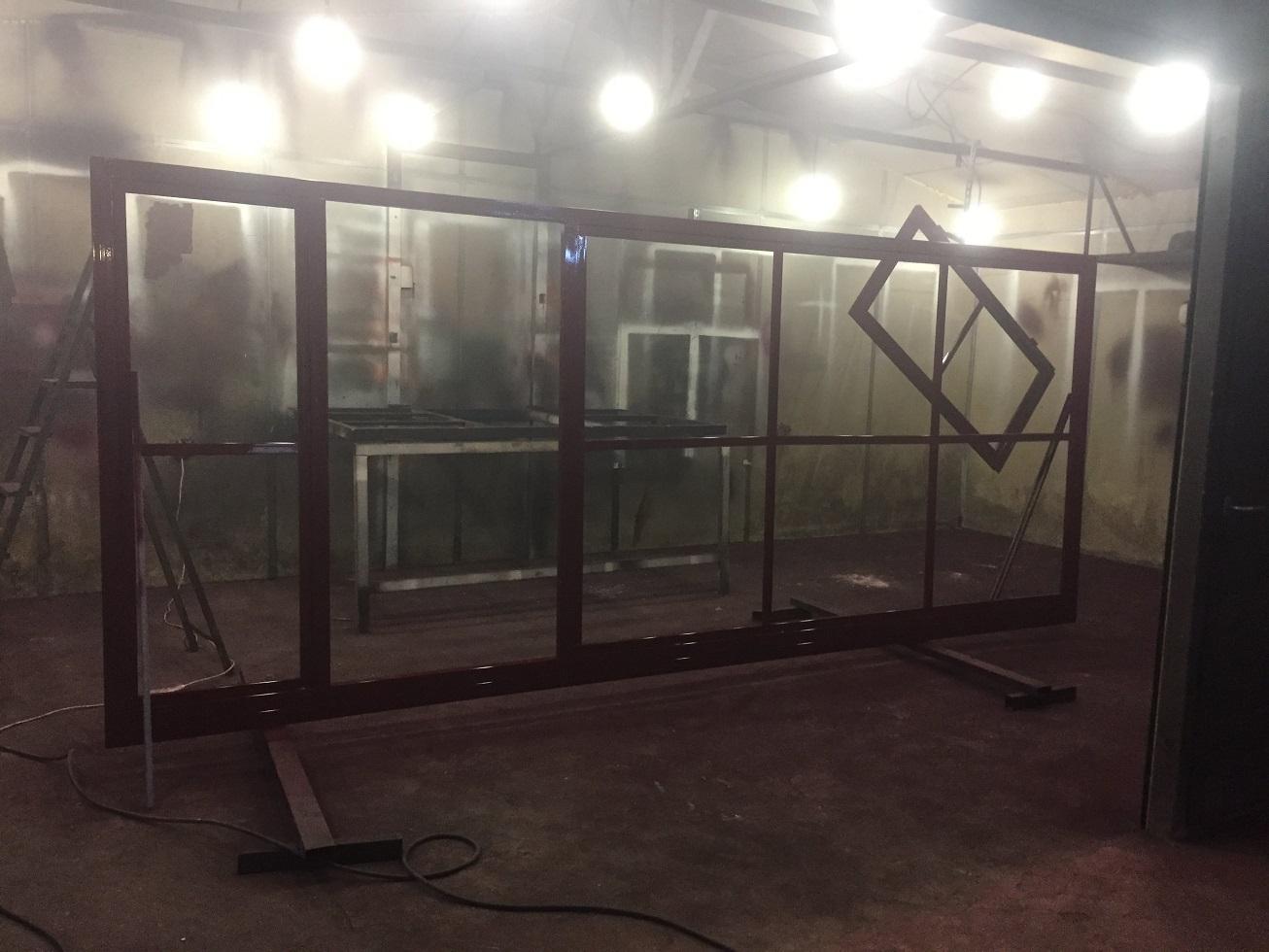 Изготовление рамы откатных ворот дорхан в Волгограде.