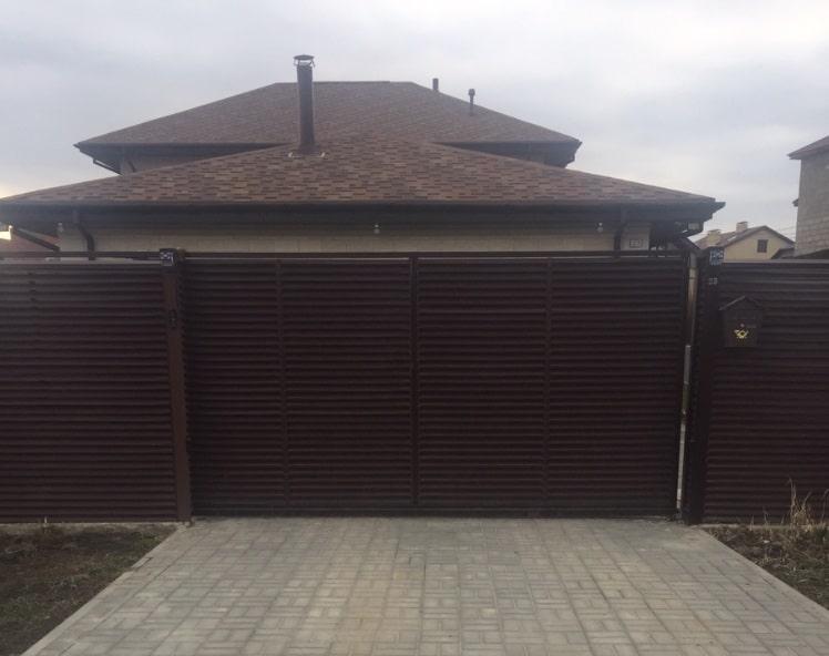 Изготовление и установка откатных ворот Волгоград