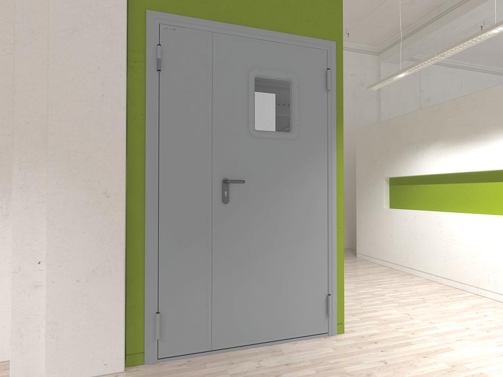 Технические двустворчатые двери Дархан
