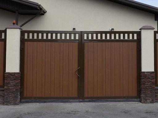 Распашные ворота дорхан с электроприводом.